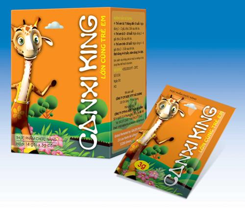 CanxiKing giúp trẻ phát triển chiều cao tuyệt đối